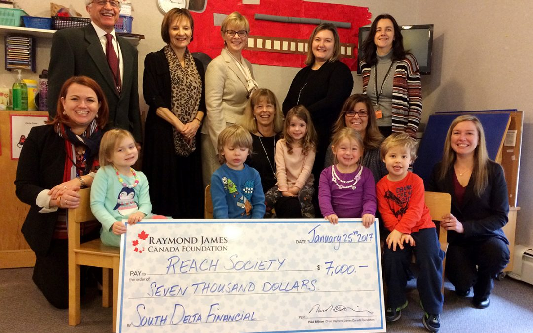 Raymond James Foundation & South Delta Financial Group Visit Reach.