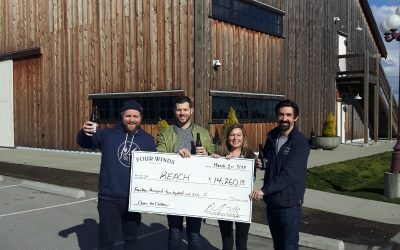 Four Winds Brewery supports REACH with Cheers for Children